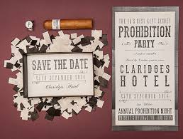 prohibition party save the date by chris newton great gatsby