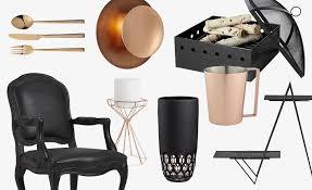 Copper Home Decor Cool Color Palette Black And Copper Home Decor Cb2 Blog