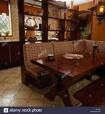 Wood Banquette Seating Kitchen Wood Diner Dining Stock Photos U0026 Kitchen Wood Diner Dining