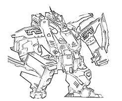 sketch combat robot coloring pages place color