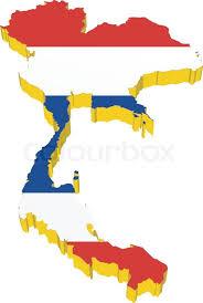 thailand vector map vectors 3d map of thailand stock vector colourbox