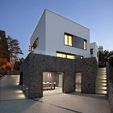 minimalist residential affordable concrete circular stairwell