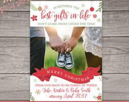 christmas pregnancy announcement christmas pregnancy etsy
