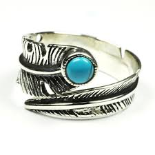 real stone rings images Twisted feather turquoise ring turquoise chakra jpg