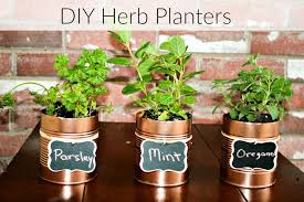 herbs planter diy herb planters with repurposed cans consumerqueen com