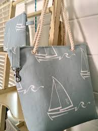 the cape cod bag company sailboat small tote in spa blue