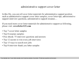 administrative support cover letter executive assistant cover