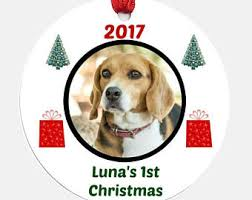 dogs first christmas etsy