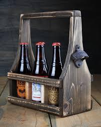 handmade beer carrier beer tote wooden craft beer natural