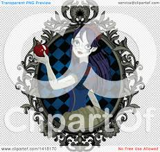 free halloween clip art transparent background clipart of a halloween zombie snow white holding an apple in a