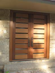 walnut rustic modern double entry door by escon door exterior