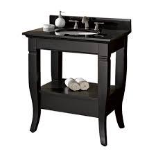 black bathroom vanity with sink doorje