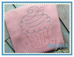 applique corner applique design cupcake sketch embroidery design