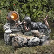 Outdoor Water Fountains With Lights Nature Whispering Of Outdoor Garden Water Fountains Garden Water