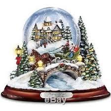 thomas kinkade lighted pictures thomas kinkade lighted musical snow globe christmas sculpture