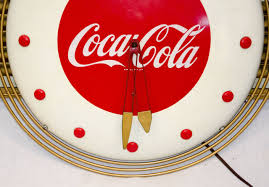 Art Deco Style Coca Cola Art Deco Style Wall Clock For Sale At 1stdibs