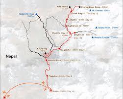 Qatar Route Map by Everest Three Passes Trekking 20 Days Everest 3 High Passes