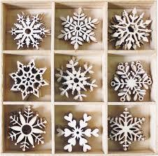 bobunny snowflakes wood shapes