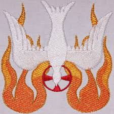 design embroidery spirit with blended flame embroidery design