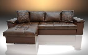 leather corner sofa bed sale leather corner sofa bed mike universal hand brown