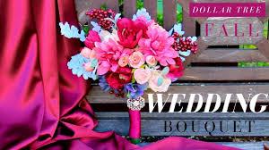Bouquet Diy Dollar Tree Wedding Bouquet Diy Fall Wedding Bouquet Youtube