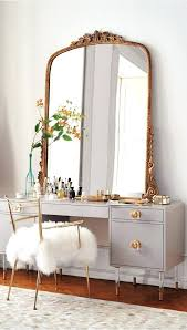 mirrored home decor gold mirrored bedroom furniture shag puff dressing chair home decor