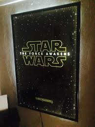 lighted movie poster frame diy led frame project for the force awakens poster yakface com