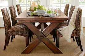 wood dining room sets dining room sets pottery barn