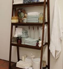 bathroom leaning ladder shelf 4 tier display linen tower