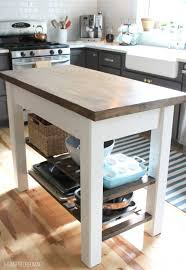 diy kitchen island table 14 simple kitchen islands shelterness