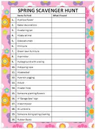Thanksgiving Charades Word List Spring Scavenger Hunt Free Printable Moms U0026 Munchkins