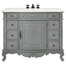 home decorators collection winslow 45 in w vanity in antique grey