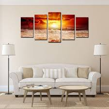 whole sale home decor chinese wholesale home decor canvas wall art landscape red sun