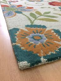 5x7 Area Rugs by Handmade Wool Floral Beige Green 5x7 Lt1143 Area Rug