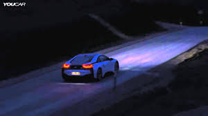 Bmw I8 Laser Lights - 2014 bmw i8 by night bmw laserlight and selective beam youtube