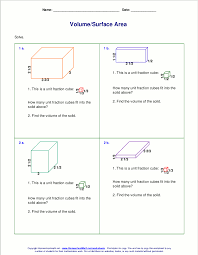 volume worksheets grade 6 worksheets