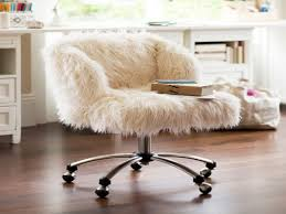 White Ergonomic Office Chair by Furniture Best Way To Love Your Home With Cute Furry Desk Chair