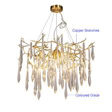 Copper Chandeliers Phube Lighting Large Artistic Branches Chandeliers Coloured Glaze