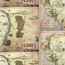 map hobbit rooftop fabrics lord of the rings cotton by camelot fabrics