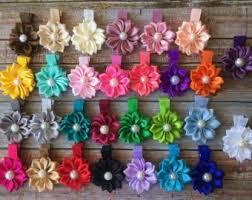 Flower Clips For Hair - flower hair clips etsy