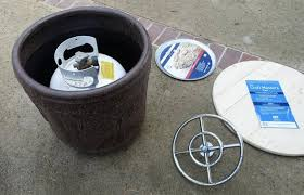How To Make Fire Pits - diy make a portable propane fire pit out of a flower pot the