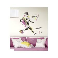 Wall Decors by Roommates Rmk2490gm Men U0027s Soccer Champion Peel And Stick Giant