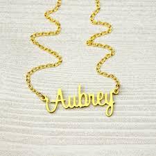 custom name necklace gold custom name necklace gold name plate necklace script name