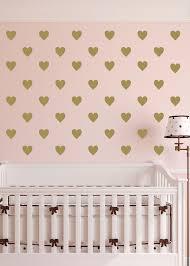 polka dot hearts vinyl wall decal nursery toddler room geometric