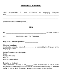 job agreement contract sample 7 examples in word pdf