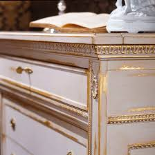 louis xvi style chest of drawers white white and gold