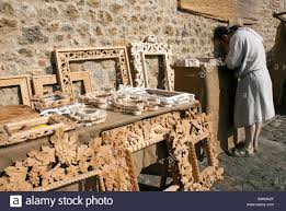 hand carved wooden picture frames for sale at the medieval