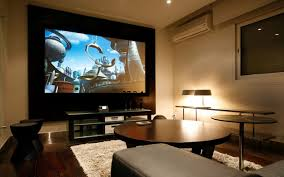 movie room media room decorating idea applying wall sconces media