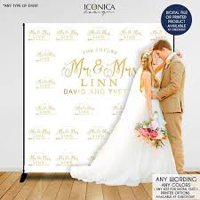 wedding backdrop size photo booth backdrop custom step and repeat backdrop engagement