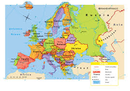 mapa europe map of britain and europe major tourist attractions maps
